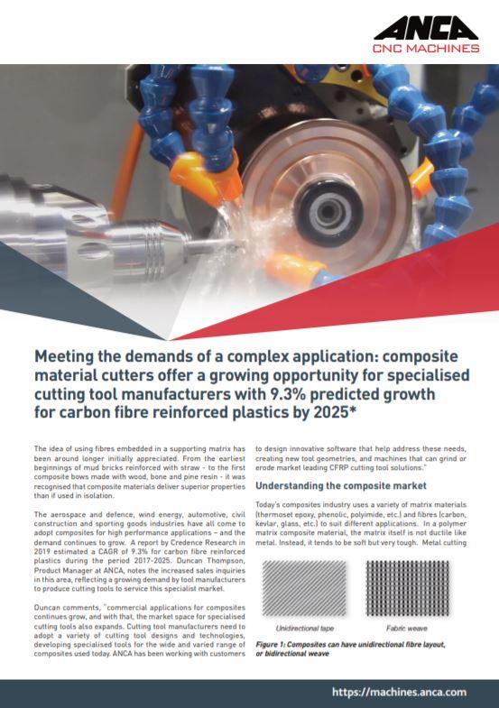 ANCA brochure: Meeting the demands of a complex application - Brochure