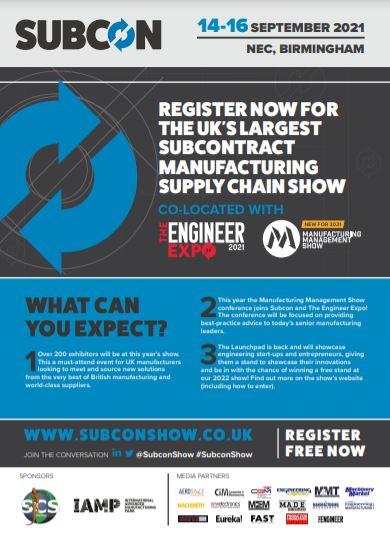 Registration now open for Subcon 2021 - Brochure